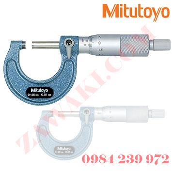 Panme đo ngoài cơ khí Mitutoyo 103-129 0-25mmx0.001mm