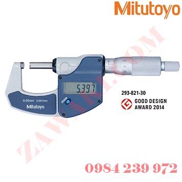 Panme đo ngoài điện tử Mitutoyo 293-821-30 0-25mmx0.001