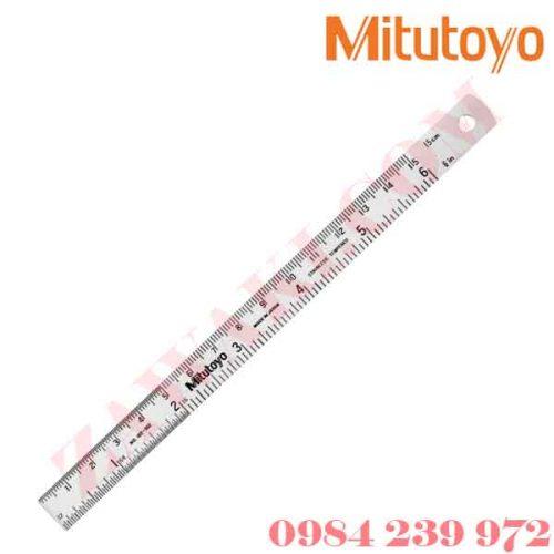 """Thước lá thẳng Mitutoyo 182-309 (0-1000/0-40"""")"""
