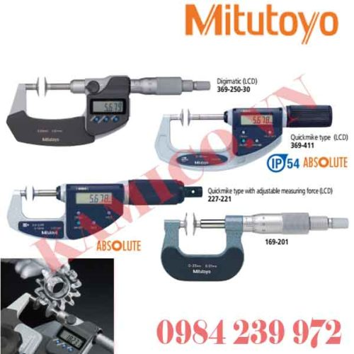 Panme đo răng Mitutoyo 169, 227, 369