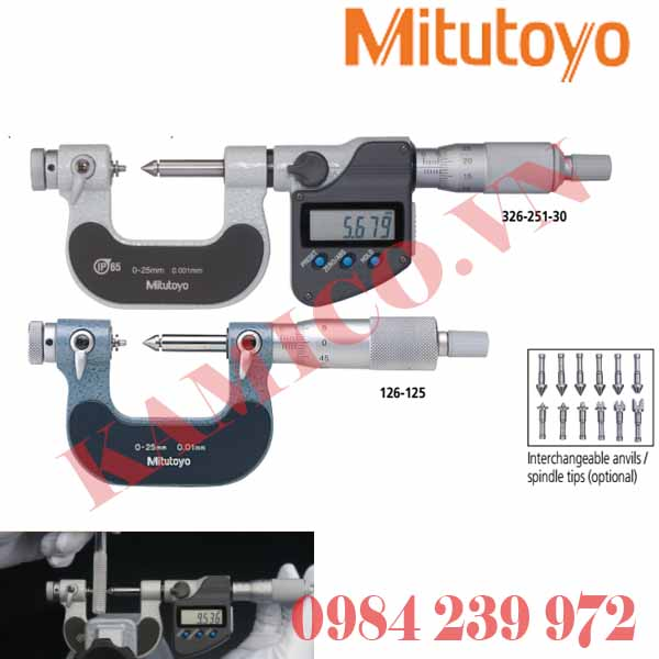 Panme đo ren Mitutoyo 126, 326